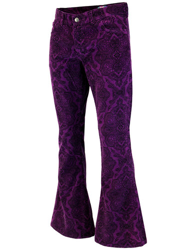 madcap england paisley rave cord bellbottom flares