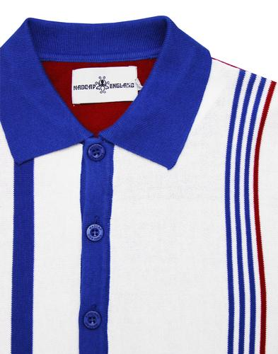 madcap england panel stripe racing polo white mod