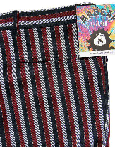 madcap england meadon 60s mod stripe trousers red