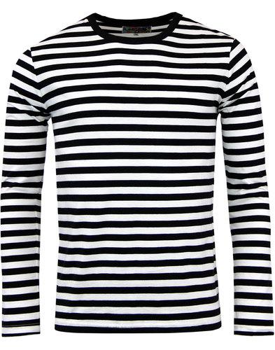 abbd30d2e6b MADCAP ENGLAND Retrorocket Retro 1960s Mod L/S Striped T-shirt