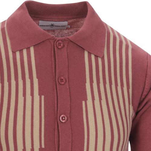 madcap england mens button through knitted cardigan roan rouge