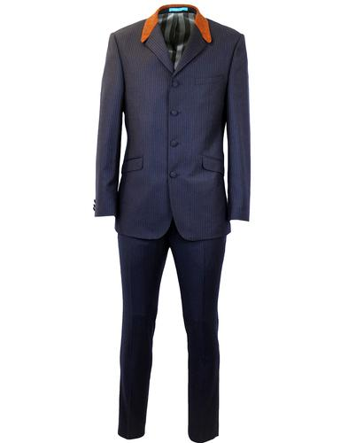 MADCAP ENGLAND Mod Flannel Stripe 4 Button Suit