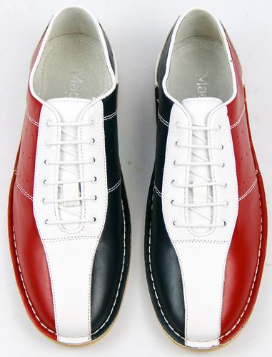 NEW MOD RETRO NORTHERN SOUL BOWLING SHOES Indie 60s MADCAP RED ...