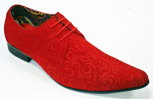 NEW MOD RETRO MOD SIXTIES PAISLEY SUEDE SHOES Winklepickers 60s ...