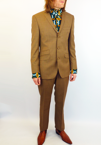 TAILORED by MADCAP ENGLAND 60s Mod 3 Button Dogtooth Suit