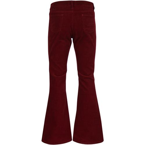 madcap england mens retro 70s cord killer flares tawny port red