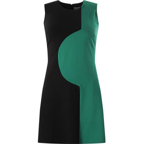 madcap england womens golightly 60s two tone mod dress black teal green