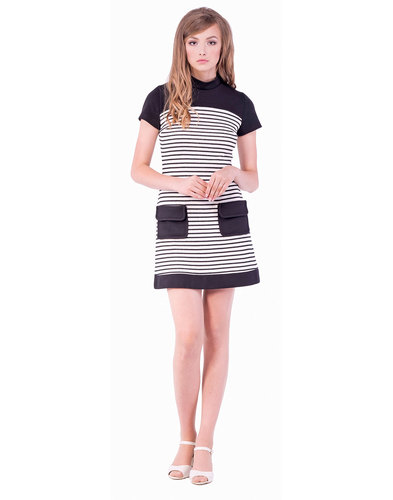 MARMALADE Mod Nautical Stripe Jersey Pocket Dress