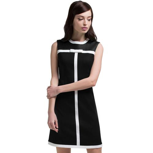 MARMALADE Retro 60s Mod Bow Front Dress in Black