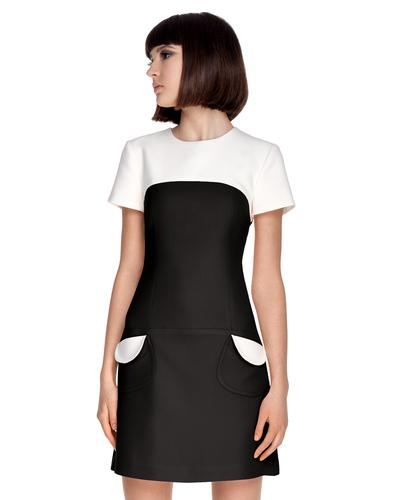 MARMALADE Retro 60s Mod Autumn Dress in Black