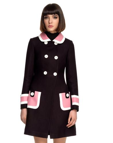 MARMALADE 60s Mod Pink Collar Double Breasted Coat