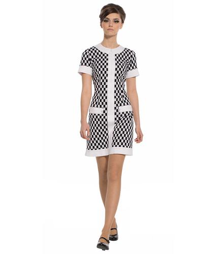 MARMALADE DRESSES RETRO MOD CHECK 60S DRESS