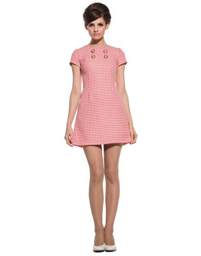 MARMALADE DRESSES RETRO MOD 60S PINK DRESS