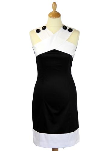 MARMALADE Mod A Line Criss-Cross Shoulder Dress