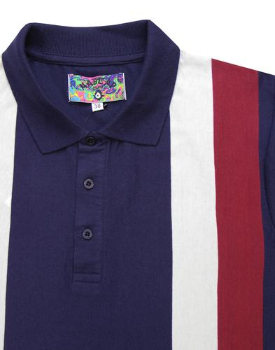 madcap england panel stripe polo peacoat mod
