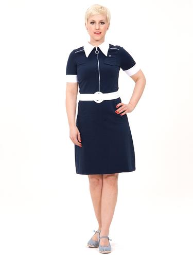 MADEMOISELLE YEYE RETRO MOD 60s POLO DRESS