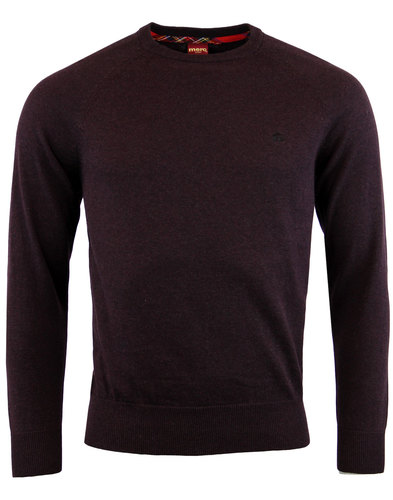 Berty MERC Indie Retro Knitted Crew Neck Jumper
