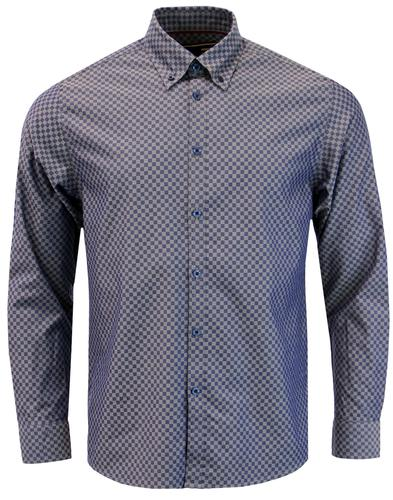 Coombe MERC Mod Ska Check Button Down Shirt (DB)