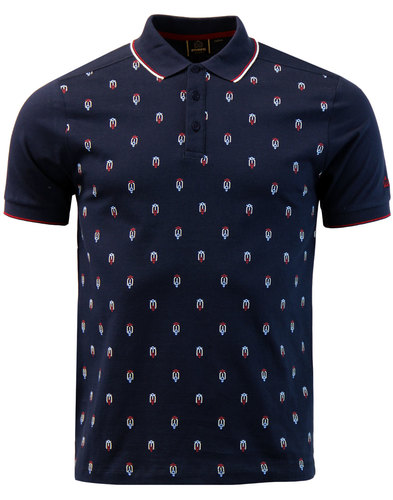 Fitch MERC Retro Mod Geometric Scooter Print Shirt