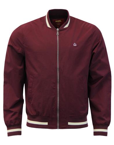 MERC Mens Retro Mod Stripe Trim Monkey Jacket WINE