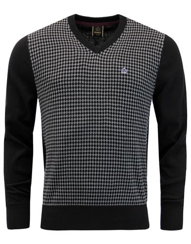 Somerset MERC 60s Mod Diamond Argyle Knit Jumper