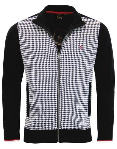 Willow MERC Retro 70s Mod Dogtooth Track Jacket