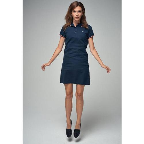 Merc Women's Mod Polo Dress - Kara in Navy