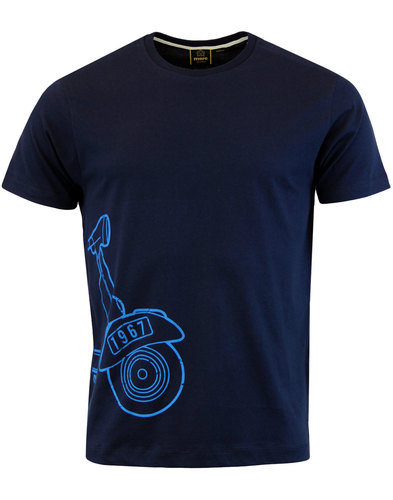 Wragby MERC Retro Mod Scooter Outline T-Shirt