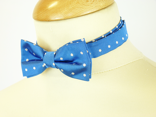 MERC RETRO MOD BOW TIE BLUE RETRO BOWTIES