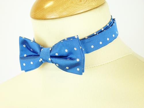 Knody MERC Retro Sixties Polkadot Bow Tie (Blue)