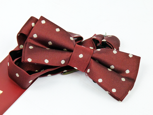 MERC RETRO MOD BOW TIE RED RETRO BOWTIES