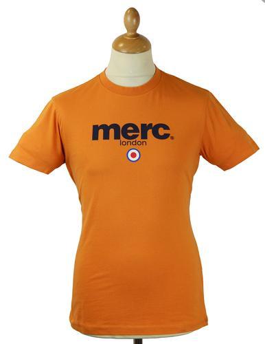 Merc brighton retro indie mod target signature t shirt orange for Brighton t shirt printing