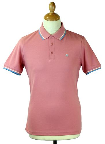 Card MERC Mod Retro Mens Tipped Pique Polo Shirt