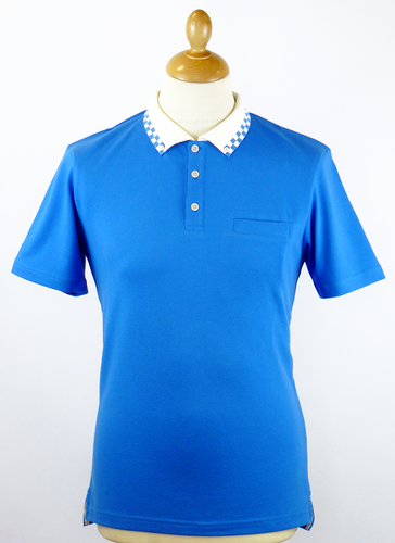 Palooka MERC Retro Mod Revival Checker Trim Polo V