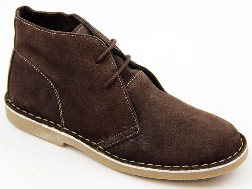 Crosby LACEYS Womens Retro Mod Suede Desert Boots