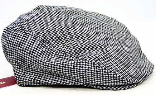 Adler MERC Retro Sixties Mod Dogtooth Flat Cap