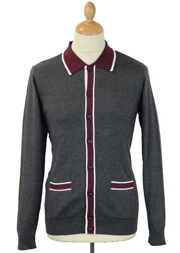 Newport MERC Retro 60s Mod Knitted Polo Cardigan C