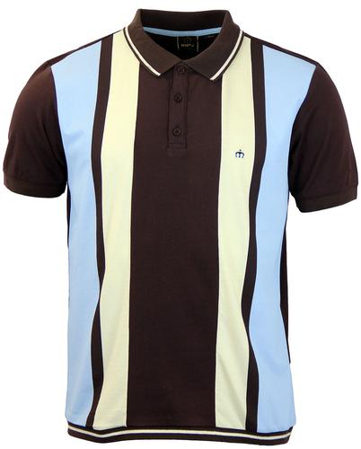 Deerfield MERC Retro 60s Mod Block Panel Polo (CB)