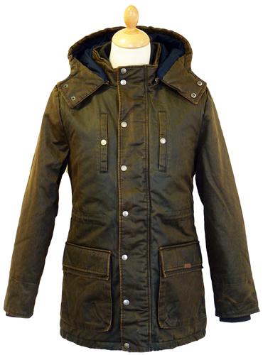 MERC Bangor Waxed Parka | Retro 60s Mod Vintage Coated Jacket