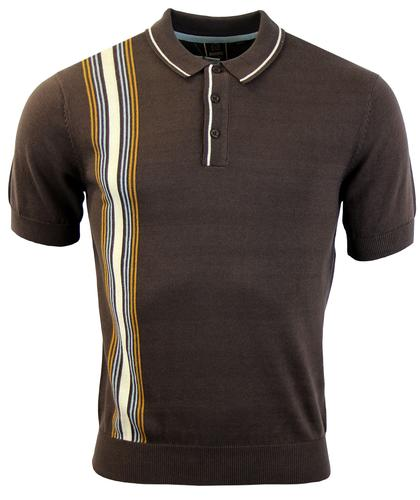 MERC RETRO MOD 60S RACING STRIPE POLO