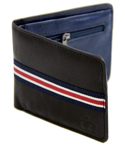 Rockaway MERC Retro Mod Canvas Stripe PU Wallet