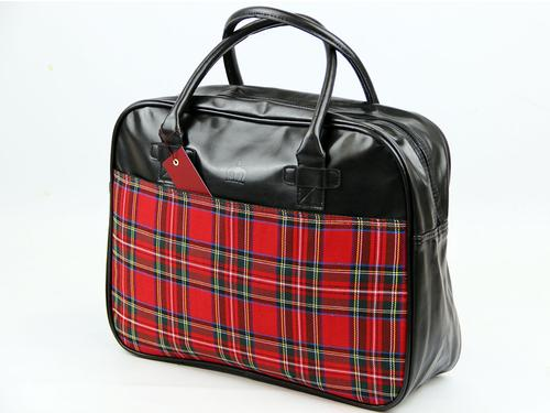 MERC RETRO MOD TARTAN HOLD ALL BAG WEEKEND BAG
