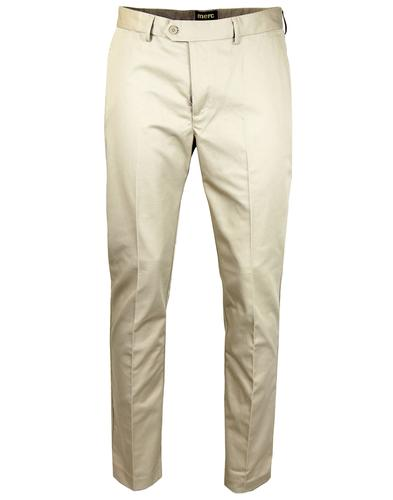 MERC RETRO MOD 60S STA PREST TROUSERS CREAM