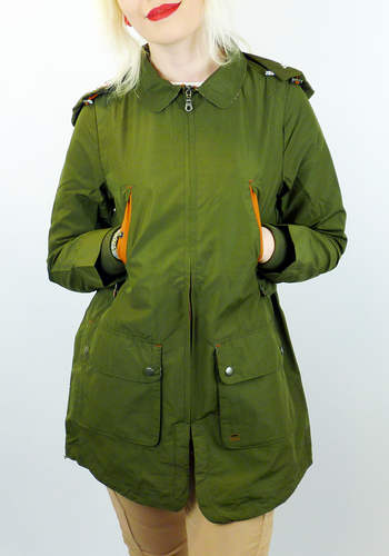 Merc Womens Lydia Retro 60s Mod Parka Coat