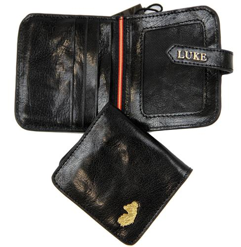 LUKE 1977 MINTED RETRO INDIE BLACK LEATHER WALLET