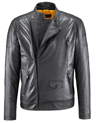 BARNEY AND TAYLOR LEATHER JACKET MOTTRAM BLACK
