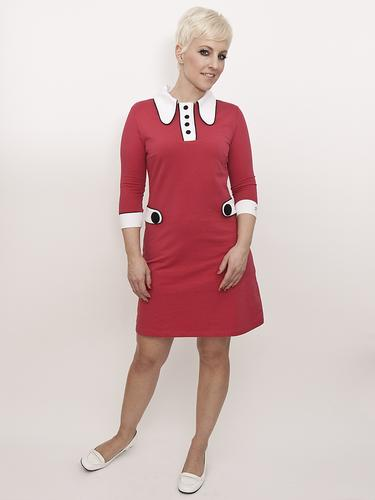 Nathalie MADEMOISELLE YEYE Retro 60s Mod Dress (B)