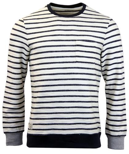 NATIVE YOUTH RETRO RIBBED LOOPBACK STRIPE JUMPER