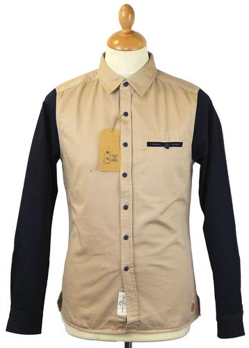 Contrast Sleeve NATIVE YOUTH Retro Worker Shirt