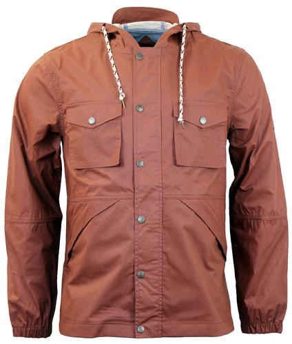 NATIVE YOUTH Classic Rip Stop Festival Jacket RUST